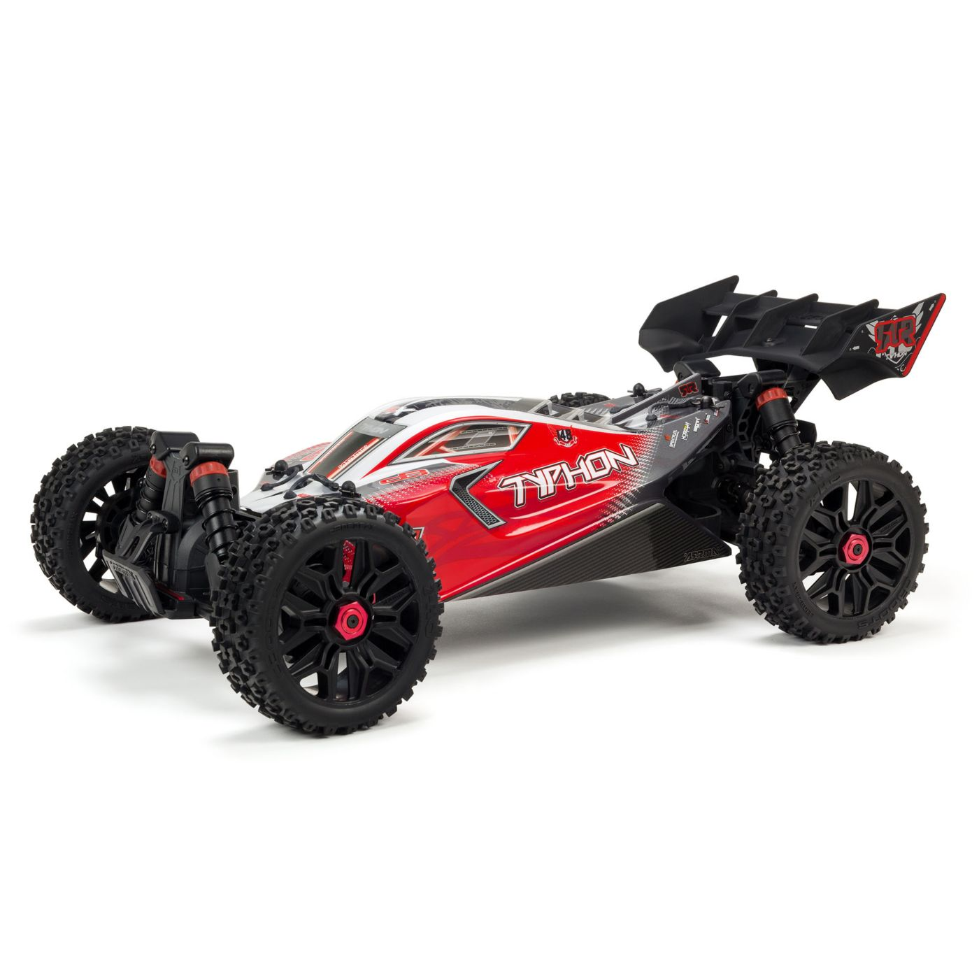 ARRMA 1/8 TYPHON 3S BLX 4WD Brushless Buggy with Spektrum RTR, Red
